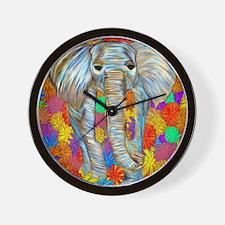 Elephant Frolic Wall Clock