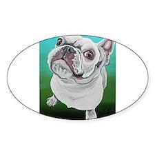 White French Bulldog Decal