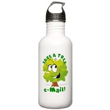 SAVE A TREE - E-MAIL Water Bottle