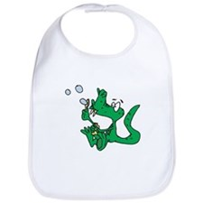 Cute Crocodile Blowing Bubbles Bib