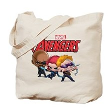 Chibi Hawkeye-Widow-Fury Stylized Tote Bag