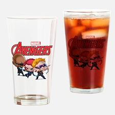 Chibi Hawkeye-Widow-Fury Stylized Drinking Glass