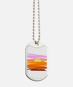 Tropical Sunset Dog Tags