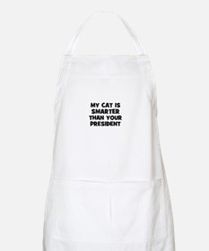 my cat is smarter than your p BBQ Apron