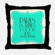 Audrey's Quote Throw Pillow