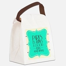 Audrey's Quote Canvas Lunch Bag