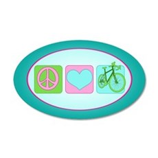 Peace Love and Cycling Wall Decal