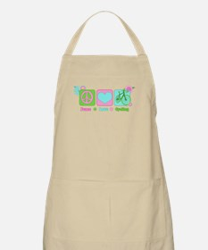 Peace Love and Cycling Apron