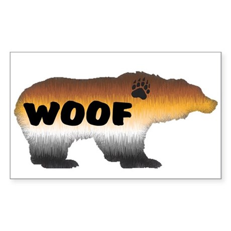 FURRY PRIDE BEAR/WOOF Rectangle Sticker