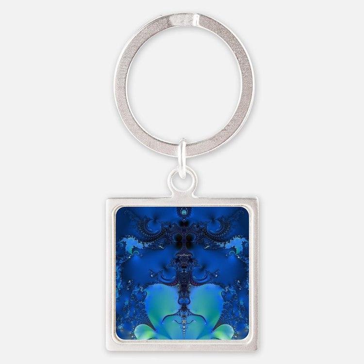 Blue Glory Fractal Keychains