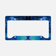 Blue Glory Fractal License Plate Holder