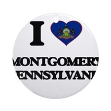 I love Montgomery Pennsylvania Ornament (Round)