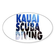 Kauai Scuba Diving Oval Decal