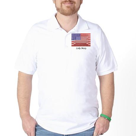 USA 3 Flags Golf Shirt