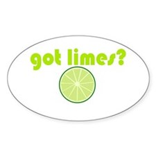 got limes? Oval Decal