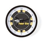 Poker Star Wall Clock