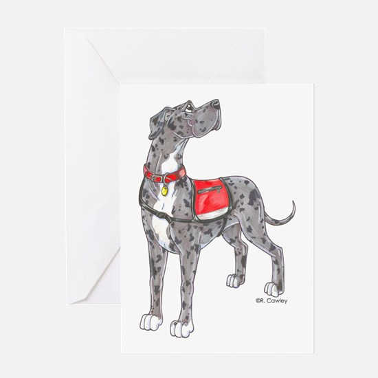 NMrl with vest Greeting Card