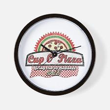 Cup O'Pizza Wall Clock