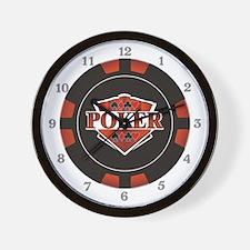 Poker Emblem Wall Clock