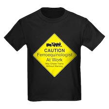 Ferroequinologist Warning T-Shirt