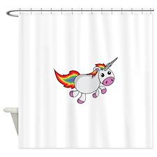 Cute Cartoon Unicorn Shower Curtain