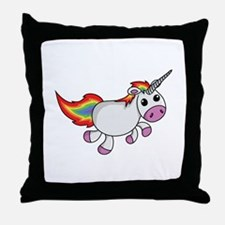 Cute Cartoon Unicorn Throw Pillow