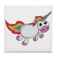 Cute Cartoon Unicorn Tile Coaster
