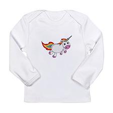 Cute Cartoon Unicorn Long Sleeve T-Shirt