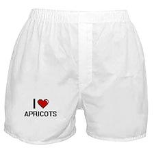 I Love Apricots digital retro design Boxer Shorts