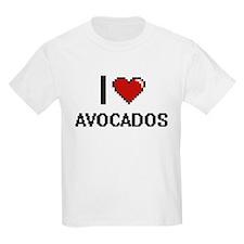 I Love Avocados digital retro design T-Shirt