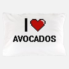I Love Avocados digital retro design Pillow Case