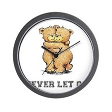 Never Let Go Bear Hug Wall Clock