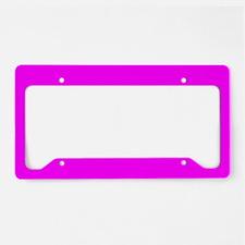 Solid Magenta License Plate Holder