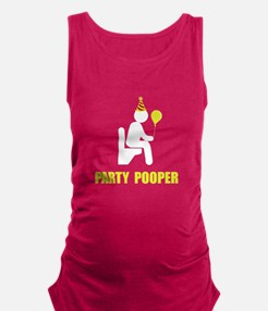 Party Pooper Maternity Tank Top