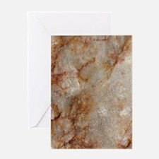 Realistic Brown Faux Marble Stone P Greeting Cards