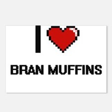 I Love Bran Muffins digit Postcards (Package of 8)