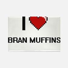 I Love Bran Muffins digital retro design Magnets