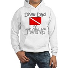 Diver Dad of Twins - Front Only Jumper Hoody