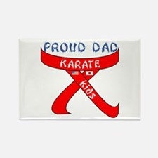 Proud Karate Dad Kids Rectangle Magnet (10 pack)