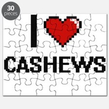 I Love Cashews digital retro design Puzzle