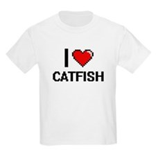 I Love Catfish digital retro design T-Shirt