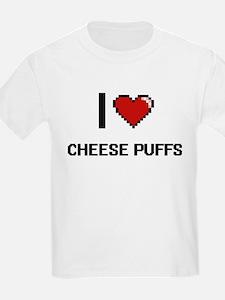 I Love Cheese Puffs digital retro design T-Shirt