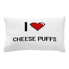 I Love Cheese Puffs digital retro desi Pillow Case