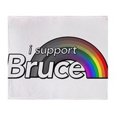 i support Bruce Throw Blanket