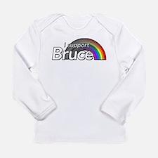 i support Bruce Long Sleeve T-Shirt