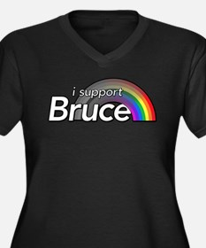 i support Bruce Plus Size T-Shirt