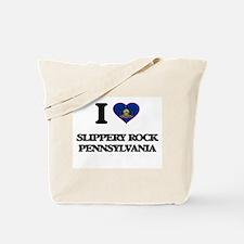 I love Slippery Rock Pennsylvania Tote Bag
