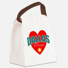 I love Dallas Texas Canvas Lunch Bag
