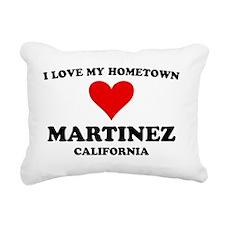 Hometown Martinez CA Rectangular Canvas Pillow