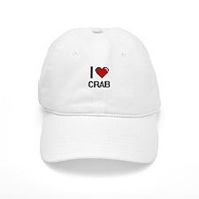 I Love Crab digital retro design Baseball Cap